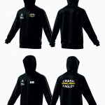 hoodie full zip schwarz