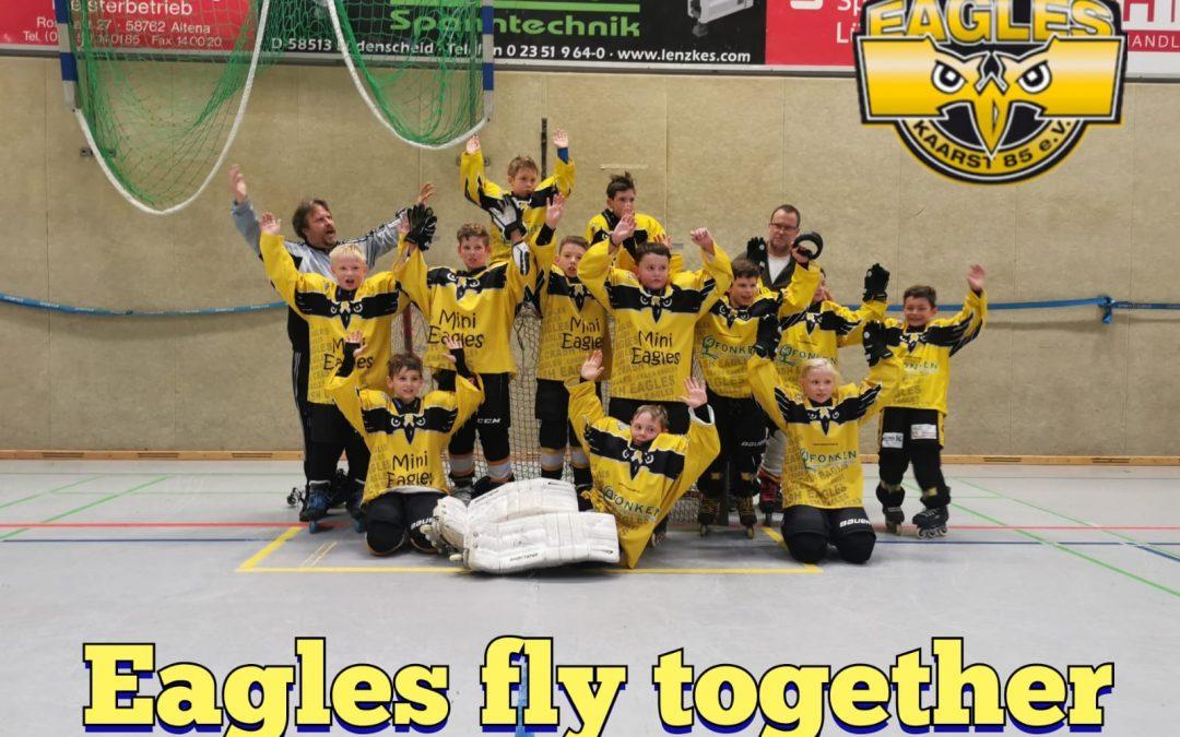 Wahnsinnswochenende für die jüngsten Eagles.    Bambini I und II erfolgreich in Monheim und Lüdenscheid.